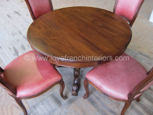 Victorian Round Dining Table Mahogany Finish 180cm